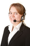 Young business woman with headset Stock Images