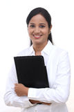 Young business woman holding a file Stock Photography