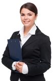 Young business woman holding folder Stock Images