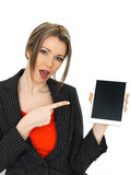 Young Business Woman Holding a Tablet Stock Photography
