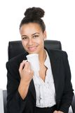 Young business woman holds a cup Stock Photography