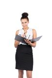 Young business woman holds a file Stock Photography