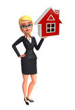 Young Business Woman with home Stock Images