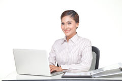 Young business woman isolated Royalty Free Stock Photo