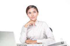 Young business woman isolated Stock Image