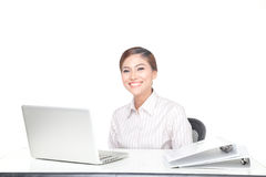 Young business woman isolated Royalty Free Stock Images