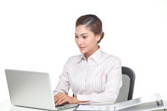 Young business woman isolated Stock Photo