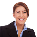 Young business woman laughing Stock Photo