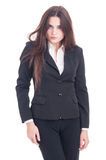 Young business woman with long sexy hair Stock Images