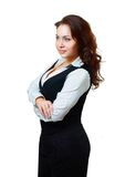 Young business woman looking away Royalty Free Stock Photos