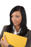 Young Business Woman Love Work At Office Stock Photography