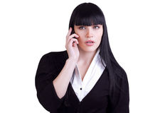 Young Business Woman Making A Phone Call Royalty Free Stock Photos