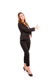 Young business woman making thumbs up Stock Photography