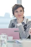 Young business woman on meeting Stock Image