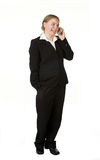 Young business woman on mobile phone Royalty Free Stock Photo