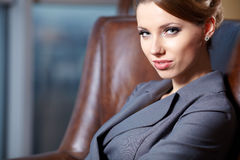 Young  business woman in modern office. Royalty Free Stock Photography