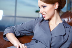 Young  business woman in modern office. Stock Photography