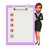 Young Business Woman with notepad Royalty Free Stock Photo