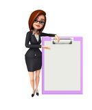 Young Business Woman with notepad Stock Photos