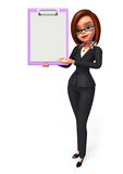 Young Business Woman with notepad Stock Photography