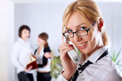 The young business woman at office Stock Photo