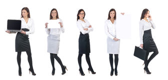 A young business woman with office items Stock Photography