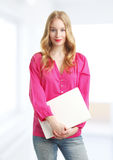 Young business woman in the office Stock Photography