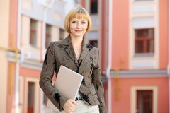 Young business woman outdoor Royalty Free Stock Images