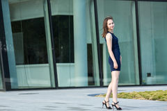 Young business woman outdoors. Stock Photos