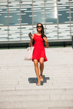 Young business woman outdoors on a summer day Royalty Free Stock Photos