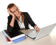 Young  Business Woman overworked Royalty Free Stock Photo