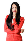 Young business woman in pensive pose. Stock Photography