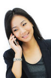 Young business woman on the phone Royalty Free Stock Photography
