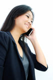 Young business woman on the phone Stock Photography