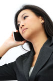 Young business woman on the phone Royalty Free Stock Photo