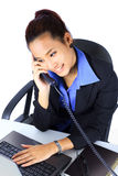 Young  Business woman on the phone Royalty Free Stock Image