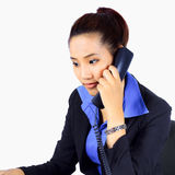 Young  Business woman on the phone Stock Photos
