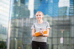 Young business woman planning her day Royalty Free Stock Image