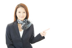 Young business woman pointing Royalty Free Stock Images