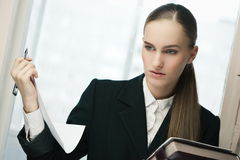 Young business woman portrait Royalty Free Stock Photography
