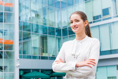 Young business woman portrait Stock Image