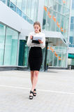 Young business woman portrait Royalty Free Stock Photo