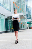 Young business woman portrait Royalty Free Stock Images