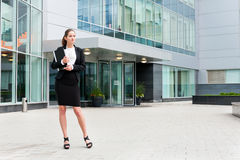 Young business woman portrait Stock Images