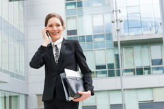 Young business woman portrait Stock Photos