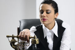 Young business woman preparing Stock Images