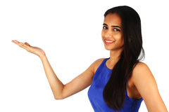 Young business woman presenting. Stock Photography