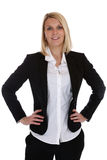 Young business woman secretary boss manager occupation job isola. Ted on a white background Royalty Free Stock Image
