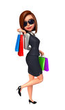 Young Business woman with shopping bags Royalty Free Stock Photo