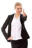 Young business woman showing OK sign Stock Images